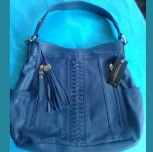 NWT leather Tignanello Posh Braid Hobo